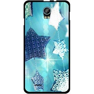 Snooky Printed Sparkling Stars Mobile Back Cover For Intex Aqua Life 2 - Multicolour