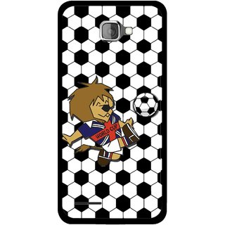 Snooky Printed Football Cup Mobile Back Cover For Micromax Canvas Mad A94 - Multi