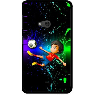 Snooky Printed High Kick Mobile Back Cover For Nokia Lumia 625 - Multi