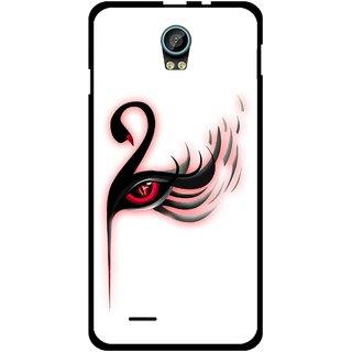 Snooky Printed Eye Art Mobile Back Cover For Intex Aqua Life 2 - Multicolour