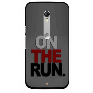 Snooky Printed On The Run Mobile Back Cover For Motorola Moto X Style - Grey