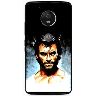 Snooky Printed Angry Man Mobile Back Cover For Moto G5 - Multi