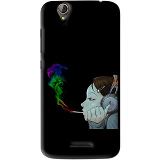 Snooky Printed Color Of Smoke Mobile Back Cover For Acer Liquid Z630S - Black