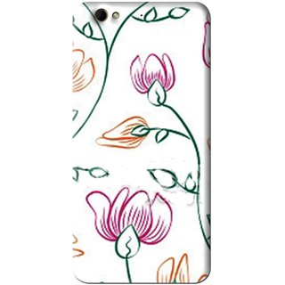 Snooky Printed Flower Sketch Mobile Back Cover For Gionee Elife S6 - White