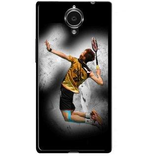 Snooky Printed Badminton Mania Mobile Back Cover For Gionee Elife E7 - Multicolour