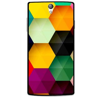 Snooky Printed Hexagon Mobile Back Cover For Oppo Find 5 Mini - Multi