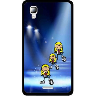 Snooky Printed Girls On Top Mobile Back Cover For Micromax Canvas Doodle 3 A102 - Blue