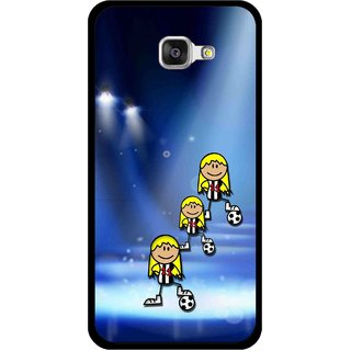 Snooky Printed Girls On Top Mobile Back Cover For Samsung Galaxy A5 2016 - Blue