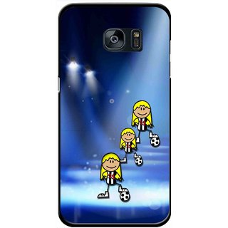 Snooky Printed Girls On Top Mobile Back Cover For Samsung Galaxy S7 - Blue