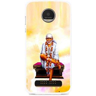 Snooky Printed Sai Baba Mobile Back Cover For Moto Z - Multi