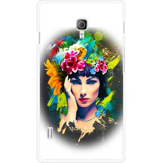 Snooky Printed Classy Girl Mobile Back Cover For Lg Optimus L7 II P715 - Multicolour