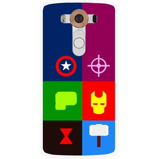 Snooky Printed Multi Heros Mobile Back Cover For Lg V10 - Multi
