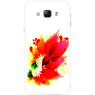 Snooky Printed Flowery Red Mobile Back Cover For Samsung Galaxy A8 - Multicolour