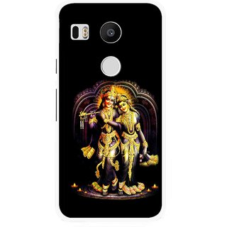 Snooky Printed Radha Krishan Mobile Back Cover For Lg Google Nexus 5X - Black