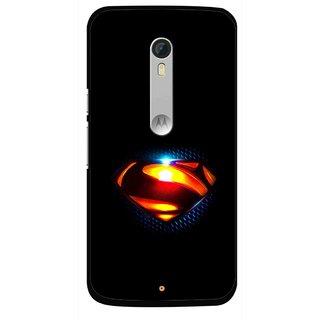 Snooky Printed Super Hero Mobile Back Cover For Motorola Moto X Style - Black