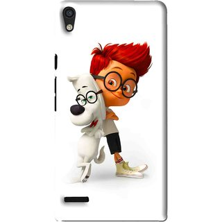 Snooky Printed My Friend Mobile Back Cover For Huawei Ascend P6 - White
