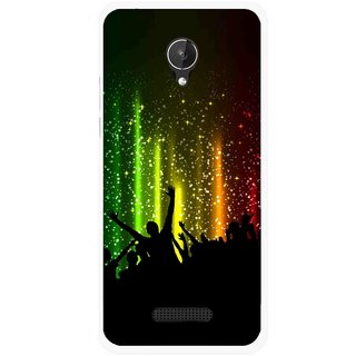 Snooky Printed Party Time Mobile Back Cover For Micromax Canvas Spark Q380 - Multicolour