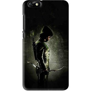 Snooky Printed Hunting Man Mobile Back Cover For Huawei Honor 4X - Black