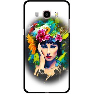 Snooky Printed Classy Girl Mobile Back Cover For Samsung Galaxy J5 (2016) - Multicolour