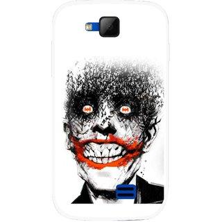 Snooky Printed Joker Mobile Back Cover For Micromax Canvas Fun A63 - Multicolour