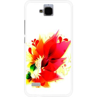 Snooky Printed Flowery Red Mobile Back Cover For Huawei Honor Holly - Multicolour