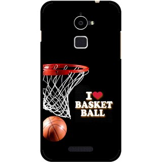 Snooky Printed Love Basket Ball Mobile Back Cover For Coolpad Note 3 Lite - Black