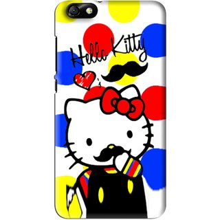 Snooky Printed moustache Kitty Mobile Back Cover For Huawei Honor 4X - Multi