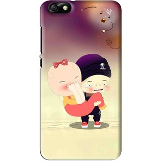Snooky Printed Friendship Mobile Back Cover For Huawei Honor 4X - Multi