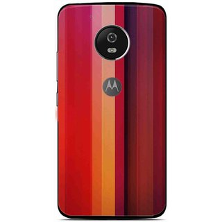 Snooky Printed Colorfull Stripes Mobile Back Cover For Moto G5 - Multi