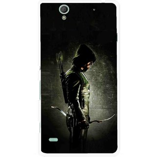 Snooky Printed Hunting Man Mobile Back Cover For Sony Xperia C4 - Black