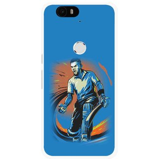 Snooky Printed I M Best Mobile Back Cover For Huawei Nexus 6P - Blues