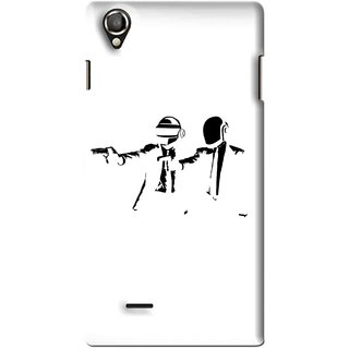 Snooky Printed Gangster Mobile Back Cover For Lava Iris 800 - Multi