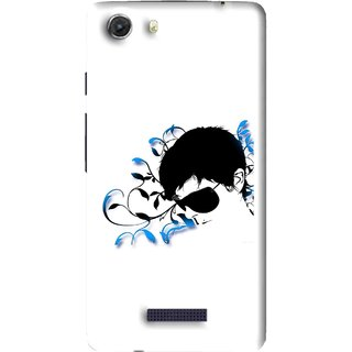 Snooky Printed Stylo Man Mobile Back Cover For Micromax Canvas Unite 3 - Multi