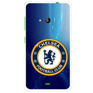 Snooky Printed Football Club Mobile Back Cover For Microsoft Lumia 535 - Blue
