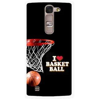 Snooky Printed Love Basket Ball Mobile Back Cover For Lg Spirit - Black