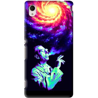 Snooky Printed Universe Mobile Back Cover For Sony Xperia M4 - Multi