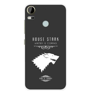 Snooky Printed House Stark Mobile Back Cover For HTC Desire 10 Pro - Grey