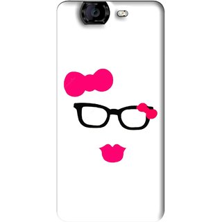 Snooky Printed Pinky Girl Mobile Back Cover For Micromax Canvas A350 - Multi