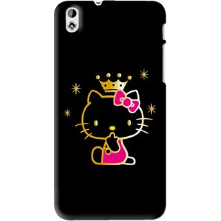 Snooky Printed Princess Kitty Mobile Back Cover For HTC Desire 816 - Multi