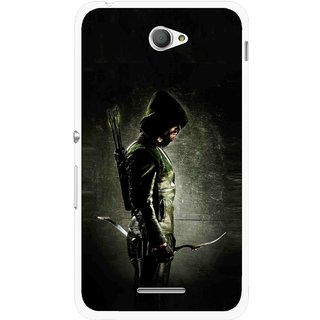 Snooky Printed Hunting Man Mobile Back Cover For Sony Xperia E4 - Black
