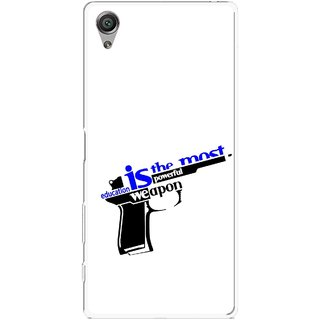 Snooky Printed Be Educated Mobile Back Cover For Sony Xperia X - Multicolour