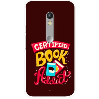 Snooky Printed Reads Books Mobile Back Cover For Motorola Moto X Play - Multi