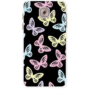 Snooky Printed Butterfly Mobile Back Cover For Samsung Galaxy J7 Max - Multicolour