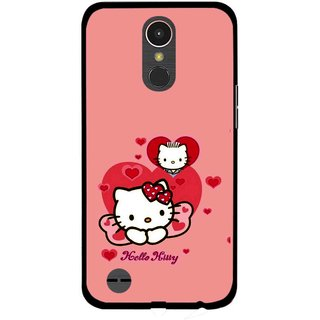 Snooky Printed Pinky Kitty Mobile Back Cover For LG K10 2017 - Multi