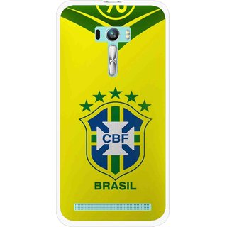 Snooky Printed Brasil Mobile Back Cover For Asus Zenfone Selfie - Yellow