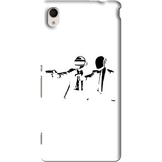 Snooky Printed Gangster Mobile Back Cover For Sony Xperia M4 - Multi