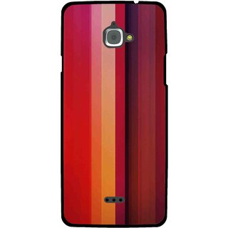 Snooky Printed Colorfull Stripes Mobile Back Cover For Infocus M350 - Multi