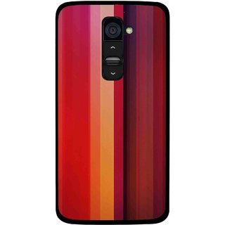 Snooky Printed Colorfull Stripes Mobile Back Cover For Lg G2 - Multi