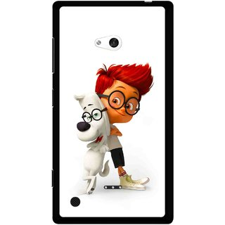 Snooky Printed My Friend Mobile Back Cover For Nokia Lumia 720 - White
