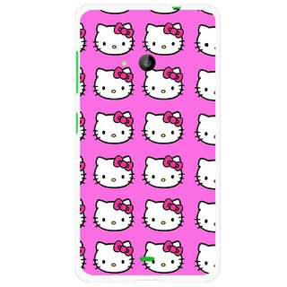 Snooky Printed Pink Kitty Mobile Back Cover For Microsoft Lumia 535 - Pink